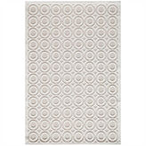 Momeni Platinum Textured Circles Runner Rug