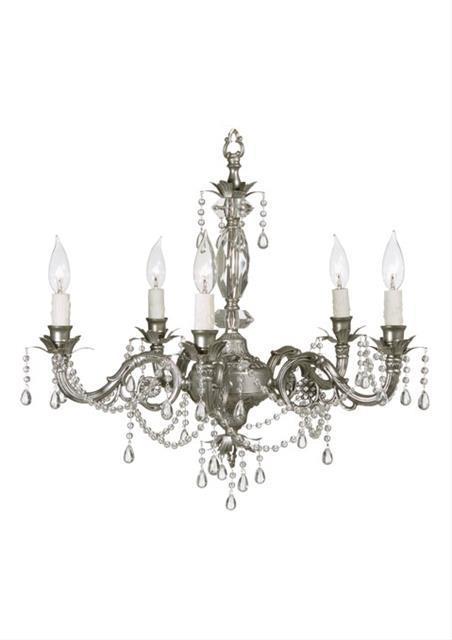 Victoria Silver Five Light Chandelier
