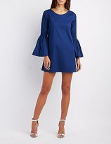Charlotte Russe Bell Sleeve Shift Dress