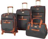 Steve Madden Black Global Spinner Four-Piece Luggage Set