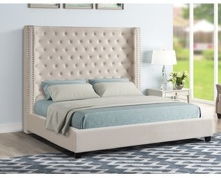 Upholstered Tufted Bed Shop The World S Largest Collection Of Fashion Shopstyle