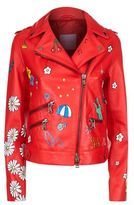Mira Mikati Never Grow Up Leather Jacket