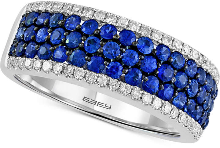 Effy Final Call by Sapphire (1-1/8 ct. t.w.) & Diamond (1/4 ct. t.w.) Ring in 14k White Gold