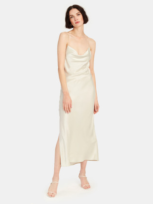 IRO Sugito Cowl Neck Silk Midi Dress