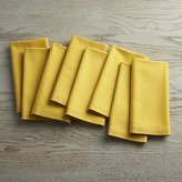 Crate & Barrel Fete Mustard Yellow Cloth Napkins Set of Eight