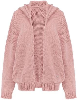 You By Tokarska Soft Sweater Akane With Hood Light Pink