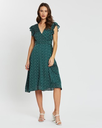 Atmos & Here Shali Wrap Front Dress