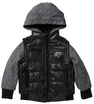 Urban Republic Matte Ciree Mix Media Jacket (Toddler & Little Boys)