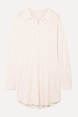 Eberjey Sleepy Striped Stretch-modal Jersey Nightdress - Ivory