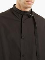 Raf Simons Black Oversized Shirt With Neckstrap