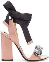 No.21 No. 21 Tie Ankle Gem Heel in Beige