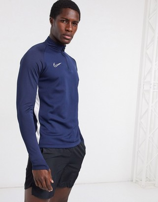Nike Football academy drill top in navy