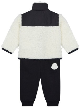 Moncler Kids Faux Fur Jacket and Trousers Set (3-36 Months)