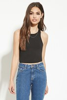 Forever 21 FOREVER 21+ Heathered Knit Crop Top
