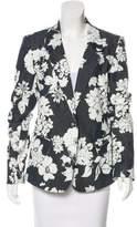 L'Agence Floral Printed Notch-Lapel Blazer