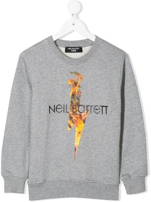 Neil Barrett Kids Flaming Bolt sweatshirt