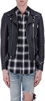 "Saint Laurent Men's ""Blood Lust"" Leather Moto Jacket-BLACK"