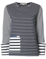Stella McCartney zipped pocket striped T-shirt