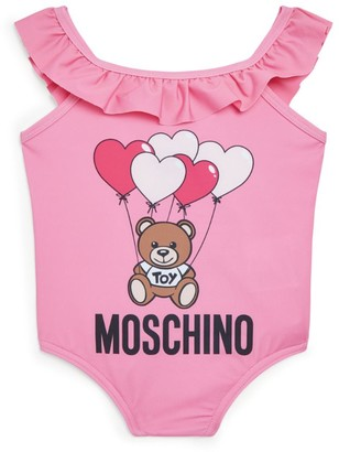 Moschino Kids Bear Logo Swimsuit