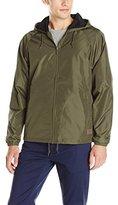 Brixton Men's Claxton Standard Fit Hooded Water-Repellant Windbreaker Jacket