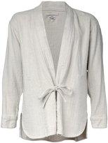 Gold - Herringbone kimono shirt - men - Linen/Flax - S