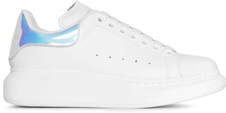 Alexander McQueen White and holographic classic sneakers