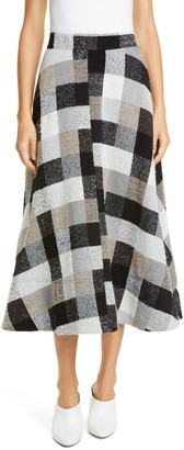 Co Check Midi Circle Skirt