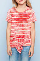 Hayden Los Angeles Striped Tie-Dye Top