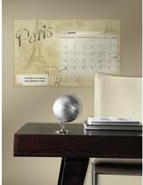 RoomMates 2.5 in. x 27 in. Paris Dry Erase Calendar Peel and Stick Wall Decals