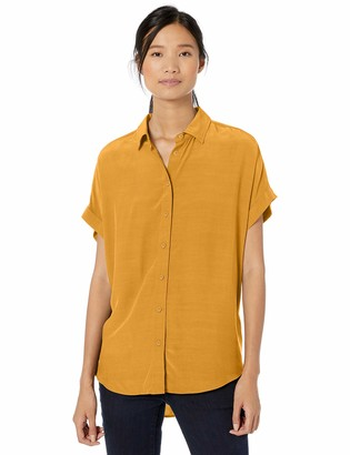 Goodthreads Amazon Brand Women's Viscose Short-Sleeve Shirt