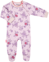 Kushies Purple English Rose Organic Cotton Footie - Preemie & Infant