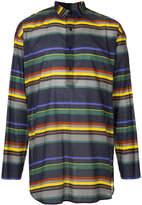 Kolor curved hem stripe shirt