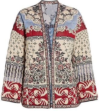 Etro Panarea Padded Kimono Cardigan