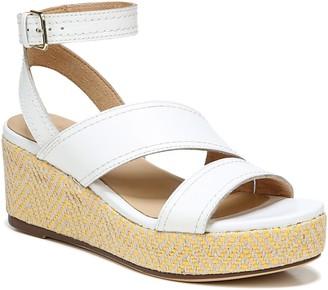 Naturalizer Leather Platform Sandal w/ Ankle Strap - Ursa