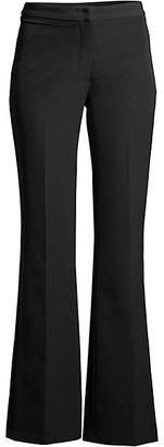 Donna Karan Italian Crepe Flare-Leg Pants