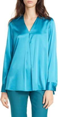 BOSS Bintu Stretch Silk Popover Blouse