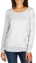 Lucky Brand Solid Round Neck Top