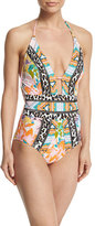 Nanette Lepore Copa Cubana Goddess Printed One-Piece Swimsuit