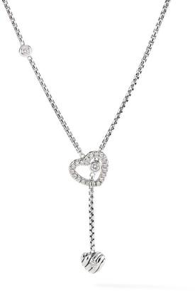 David Yurman Heart Y Necklace with Diamonds