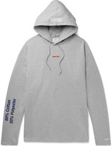 Vetements Embroidered and Printed Loopback Cotton-Blend Jersey Hoodie