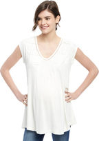 Motherhood Wendy Bellissimo Lace Trim Maternity Top