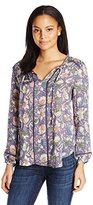Lucky Brand Women's Painted Floral Top