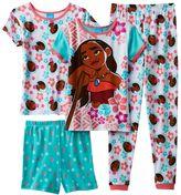 Disney Disney's Moana Girls 4-10 Moana Floral Pajama Set