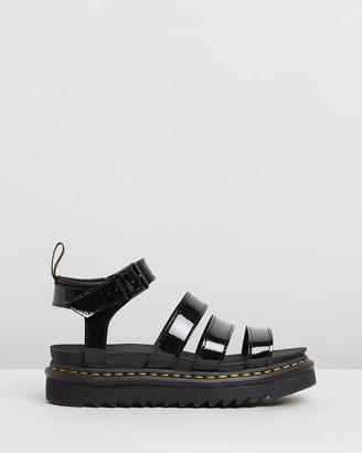 Dr. Martens Womens Blaire Patent Sandals