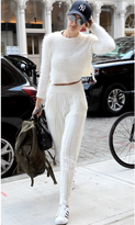 Majorelle Daisy Crop Top in Ivory as seen on Gigi Hadid