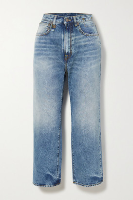 R 13 Royer Cropped High-rise Wide-leg Jeans - Light denim
