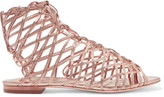 Sophia Webster Delphine Metallic Leather Sandals - Pink
