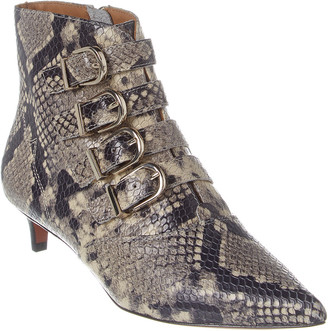 Joie Calinda Python-Embossed Leather Bootie