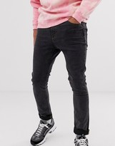Cheap Monday tight skinny jeans in black terra