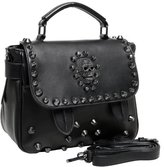 MG Collection Ming Gothic Skull Studded Structured Shoulder Bag